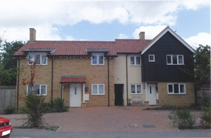 New flats, Comberton conservation area